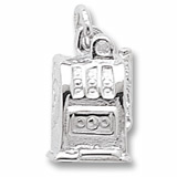 14K White Gold Slot Machine Charm by Rembrandt Charms