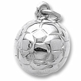 14K White Gold Soccer Ball Charm by Rembrandt Charms