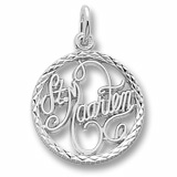 14K White Gold St. Maarten Faceted Charm by Rembrandt Charms