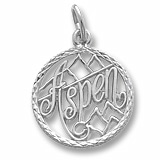 14K White Gold Aspen, Colorado Faceted Charm by Rembrandt Charms