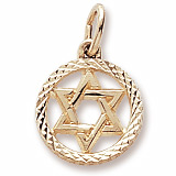 Gold Plated Star of David Charm by Rembrandt Charms
