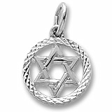 Sterling Silver Star of David Charm by Rembrandt Charms