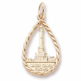 10K Gold Chicago Water Tower Charm by Rembrandt Charms