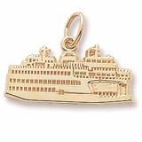 10K Gold Washington State Ferry Charm by Rembrandt Charms