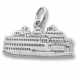 14K White Gold Washington State Ferry Charm by Rembrandt Charms