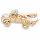 Gold Plated Tow Truck Charm by Rembrandt Charms