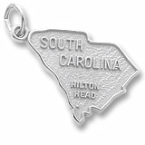Sterling Silver Hilton Head, SC. Map Charm by Rembrandt Charms