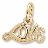 14K Gold Signed with Love Accent Charm by Rembrandt Charms