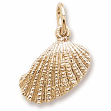 Gold Plate Shell Charm by Rembrandt Charms