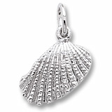 14K White Gold Shell Charm by Rembrandt Charms