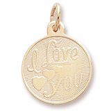 10K Gold I Love You Charm by Rembrandt Charms