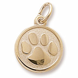 14k Gold Paw Print Charm by Rembrandt Charms