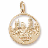 Gold Plated Kansas City Skyline Charm by Rembrandt Charms