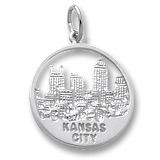 Sterling Silver Kansas City Skyline Charm by Rembrandt Charms