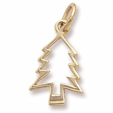 Gold Plate Christmas Tree Charm by Rembrandt Charms
