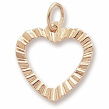 10K Gold Heart Charm by Rembrandt Charms