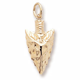 10K Gold Arrowhead Charm by Rembrandt Charms