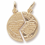 Gold Plated Mizpah Charm by Rembrandt Charms