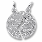 Sterling Silver Mizpah Charm by Rembrandt Charms