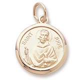 Gold Plated Saint Jude Charm by Rembrandt Charms