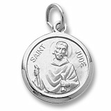 Sterling Silver Saint Jude Charm by Rembrandt Charms