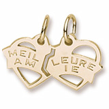 Gold Plated Meilleure Amie Heart Charm by Rembrandt Charms