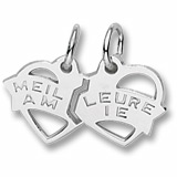 14K White Gold Meilleure Amie Heart Charm by Rembrandt Charms