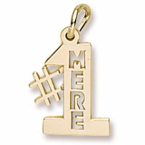 Gold Plated Number one Mere, Mom Charm by Rembrandt Charms