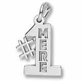 14K White Gold Number one Mere, Mom Charm by Rembrandt Charms