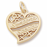 Gold Plate Someone Special Heart Charm by Rembrandt Charms