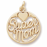 10K Gold Super Mom Charm by Rembrandt Charms