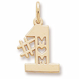 10K Gold Number One Mom Charm by Rembrandt Charms