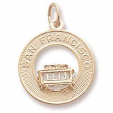 14K Gold San Francisco Cable Car Charm by Rembrandt Charms