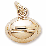10K Gold Rugby Ball Charm by Rembrandt Charms