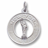 14K White Gold New York Charm by Rembrandt Charms
