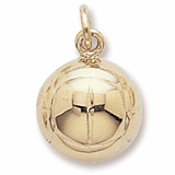 Gold Plated Volleyball Charm by Rembrandt Charms