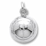 Sterling Silver Volleyball Charm by Rembrandt Charms