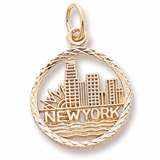 10k Gold New York Skyline Charm by Rembrandt Charms