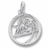 Sterling Silver Miami Faceted Charm by Rembrandt Charms
