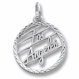 14K White Gold Los Angeles Faceted Charm by Rembrandt Charms