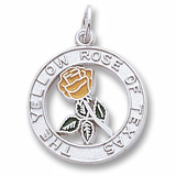 Sterling Silver Yellow Rose of Texas by Rembrandt Charms