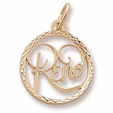 Gold Plate Reno Nevada Faceted Charm by Rembrandt Charms
