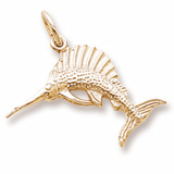 10K Gold Sailfish Charm by Rembrandt Charms