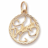 Gold Plate Orlando Faceted Charm by Rembrandt Charms