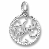 14K White Gold Orlando Faceted Charm by Rembrandt Charms