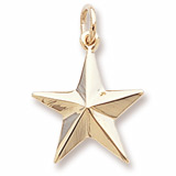 Gold Plated Star Charm by Rembrandt Charms