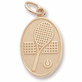 Gold Plated Tennis Charm by Rembrandt Charms