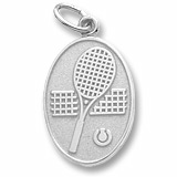 14K White Gold Tennis Charm by Rembrandt Charms