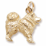 Gold Plate Chow Chow Charm by Rembrandt Charms