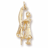 10K Gold Color Guard Flag Charm by Rembrandt Charms